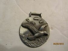Vintage Seagull Pewter Watch Fob made by Fort