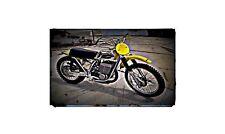 1973 Maico 501 Twin Carb Bike Motorcycle A4 Retro Metal Sign Aluminium