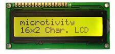 microtivity LCD Module 1602, Black on Green with Backlight Back Light IM162