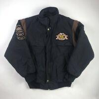 Harley-Davidson Vintage 80s 90s USA Mens Biker Motorcycle Jacket Black Patches S