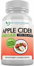 Organic Apple Cider Vinegar Capsules XXL-bottle 120 caps/750mg High Concentrated
