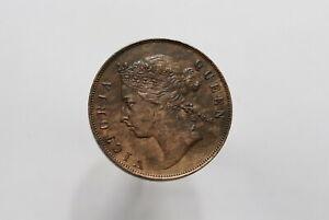 MAURITIUS 5 CENTS 1897 VICTORIA SCARCE SHARP DETAILS B28 #Z1395