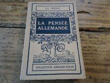 WWI - LA PENSEE ALLEMANDE DE LUTHER A NIETZSCHE 1949 PSYCHOLOGIE ALLEMANDE