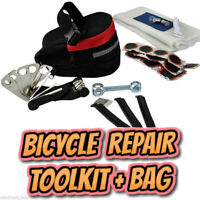 Bicycle Tyre Puncture Repair Kit Tool Set Trail Seat Saddle Bag Pack Bike Cycle