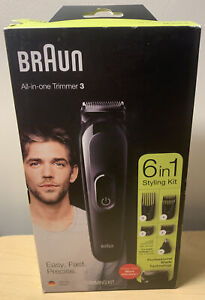 BRAUN ALL-IN-ONE TRIMMER 3 TRIMMING KIT 6 IN 1 New In The Box Free Shipping