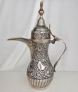 Egyptian Sterling 900 Silver Dallah Coffee Pot 84388