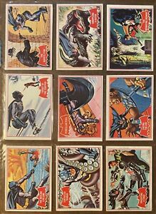 1966 Topps Batman Series A Red Bat COMPLETE SET 44/44 Very Nice Collection