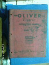 OLIVER CLETRAC MODEL AD MANUAL 1948