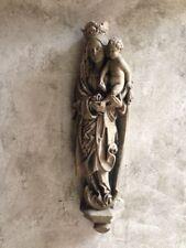 Maria Madonna und Jesus Kind Wandbild Relief Sandstein Antik Look W 31 GRAU
