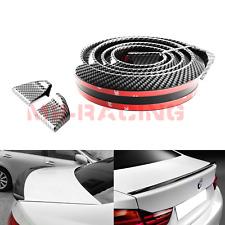 "60"" Universal Glossy 3D Carbon Fiber Trunk Spoiler Wing Rear Roof Tail Lip Trim"