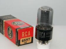 1951 RCA 6SN7GT NOS NIB Grey Glass Offset Black Plts Copper Serious Tubes A106