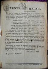 doc086 - VENTE AU RABAIS  1823 SALON DE PROVENCE