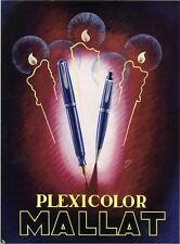 """""""STYLOS PLEXICOLOR MALLAT"""" Annonce originale entoilée Frank PICK 1947"""