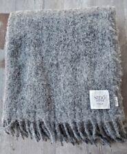 Nido Notte Italy Mohair / Alpaca Blend Throw Gray - New
