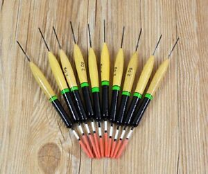 10Pcs Durable 2g Fishing Floats Bobbers Paulownia Wood Fishing Tackle Tools
