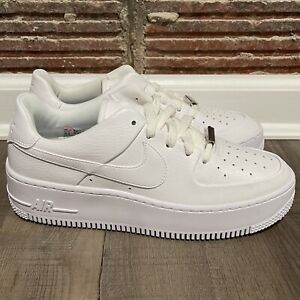 Nike Air Force 1 Sage Low White Womens Size 8.5