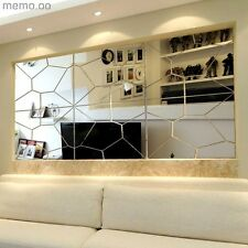 7X Moire Mirror Geometric Puzzle DIY Wall Sticker Removable Decal Decor US Stock