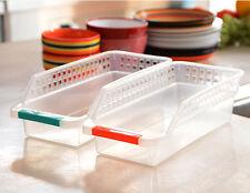 Kitchen Fridge Space Saver Organizer Slide Under Shelf Rack Holder Storage