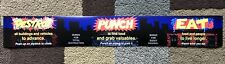 Rampage World Tour Arcade Instruction Card Midway Monitor Marquee Bezel Decal
