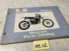 Kawasaki KX250 A5 A4 KX 250 catalogue pièces détachées parts list 250KX