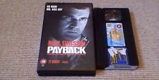 PAYBACK UK BIG BOX WARNER VHS VIDEO 1999 MEL GIBSON Richard Stark Point Blank