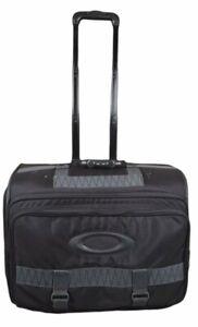 Oakley Sales Rep Dealer Travel Rolling Luggage Case Black Nylon