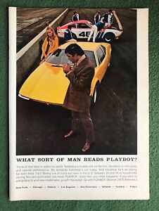 vintage 1970s magazine Ad What Sort of Man Reads PLAYBOY? house ad mancave v13