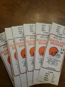 Cleveland Browns Final Game Municipal Stadium Sunday Dec 17th 1995