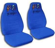 2 Front Music Notes Velvet Seat Covers with 13 Color Options
