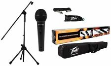 Peavey PV MSP1 PVi 100 Microphone + Mic Stand With Boom + Gig Bag + XLR Cable