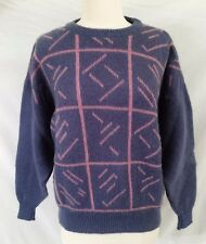 Womens M Vintage SAMBAND of Iceland 100% Pure Wool Sweater Ski Sweater