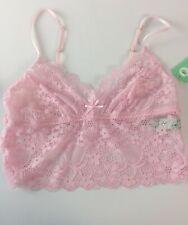 a701a9a9c7a7 Honeydew Bralette Size Medium Camellia Lace Camilette Bra Pink Sand Lace D34