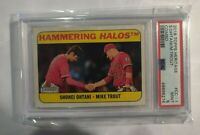 MIKE TROUT SHOHEI OHTANI 2018 TOPPS HERITAGE #1 COMBO ANGELS SP PSA 9 MINT