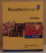 RosettaStone Spanish Level 1 Totale CD's for Beginners Rosetta Stone