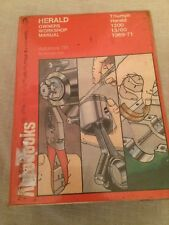 AUTOBOOKS 761 TRIUMPH HERALD WORKSHOP MANUAL 1969-1971 , FREE UK POSTAGE .