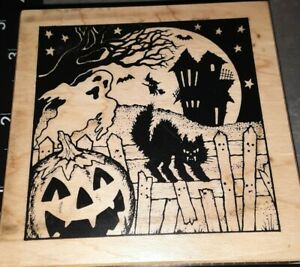 PSX, haunted house,yard scene, g941, Halloween, 707,rubber, wood
