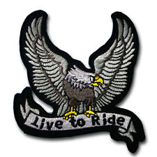 Live to Ride Patch Iron on Harley Chopper Biker Motorcycle Rider Vest Honda V2