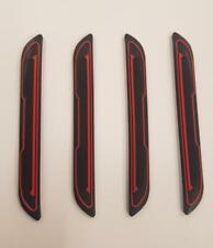 4 x Black Rubber Door Boot Guard Protectors RED Insert (DG5) fits VOLVO / SAAB
