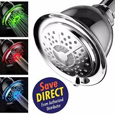 PowerSpa® 4 Setting LED Showerhead with Air Jet Turbo Pressure-Boost Nozzle Tech