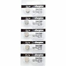 1.55V, equivalent Sr936Sw, 380, 936, Ag9 5 x Energizer 394 Watch Batteries,