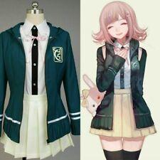 UK Stock DanganRonpa 2 Super Chiaki Nanami Cosplay Costume School Uniform Dress