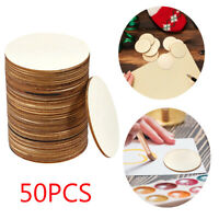 Natural Wood  Round Wood Pieces Wooden Slice Home Ornaments Centerpieces