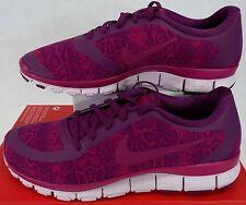 New Womens 12 NIKE Free 5.0 V4 NS PT Mulberry Fuchsia Shoes $100 695168-501
