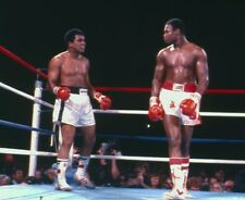 LARRY HOLMES VS MUHAMMAD ALI 8X10 PHOTO BOXING PICTURE COLOR