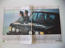 advertising Pubblicità 1986 RANGE ROVER