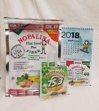 2 Bags NOPALINA Flax Seed + FIBER 32 oz (2LB ) FREE Samples