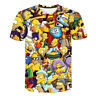 The Simpsons Funny 3D Printed T-Shirt Men Women Fashion Casual Short Sleeve