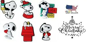 Shoe Charms for Crocs Set of 6 Snoopy Classic Cartoon Clogs