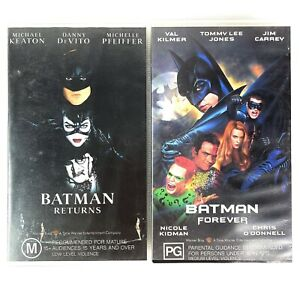 Batman Returns and Batman Forever VHS Video Tapes 1992 1995 Movies