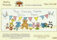 BOTHY THREADS NEW ARRIVAL BABY BIRTH SAMPLER COUNTED CROSS STITCH KIT 36x18cm -